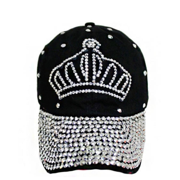 Queen of the Castle! Tiara Studded Black Hat