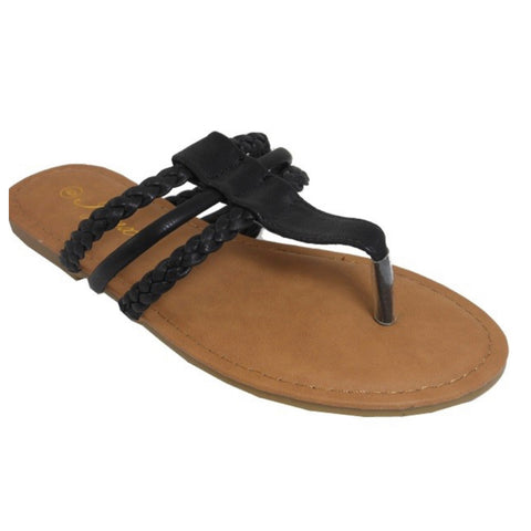 INSANITY CLOSEOUT! Adorable Triple Strap Black Sandals