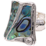Unique Abalone Stretch Ring