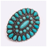 Iconic Turquoise Stone Western Barrette Clip