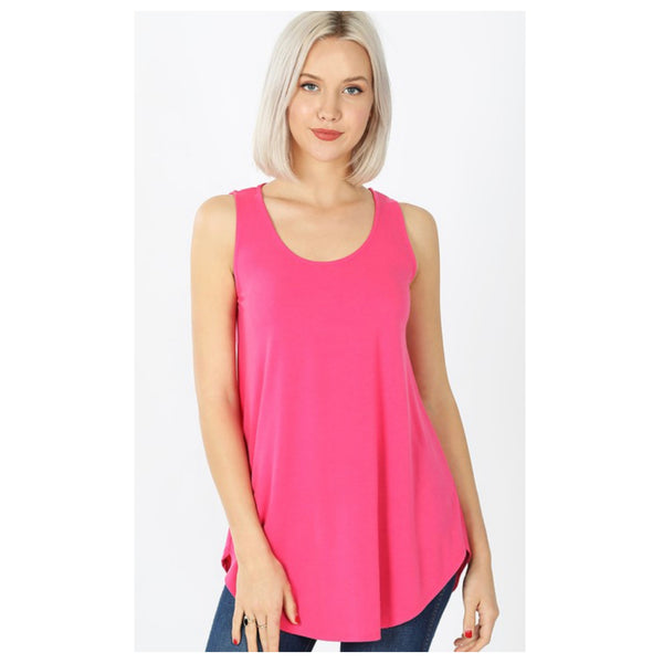 CLOSEOUT! Cozy Me! Relaxed Fit Sleeveless Top - Fuchsia