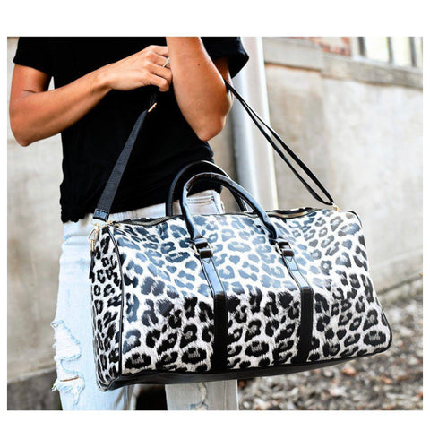 SANTAS LITTLE HELPER SPECIAL! Leopard Leather Weekender Bag