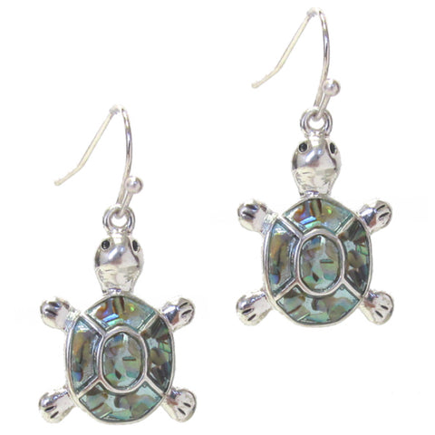 Adorable Abalone Sea Turtle Earrings
