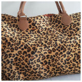 Limited Time Sale! Ready, Set, Go .. Faux Fur Leopard Weekender Tote Bag