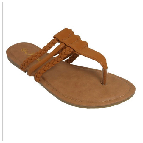 INSANITY CLOSEOUT! Adorable Triple Strap Camel Tan Sandals