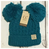 """Cute as a Button"" Always Adorable Puffy Pom Pom Ears Youth CC Beanies"