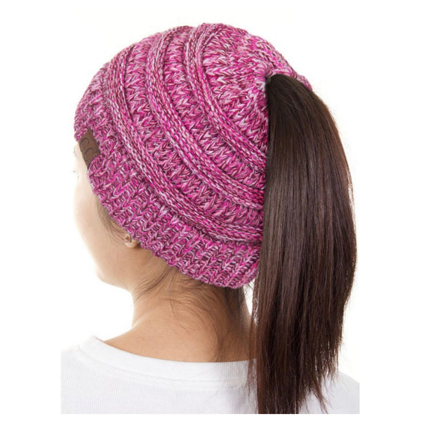 Adult Multi Tone Beanie Tail