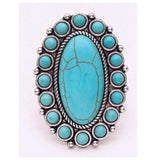 Oval Iconic Turquoise Stone Ring