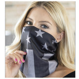 Multi Functional Mask Headband Scarf-Black
