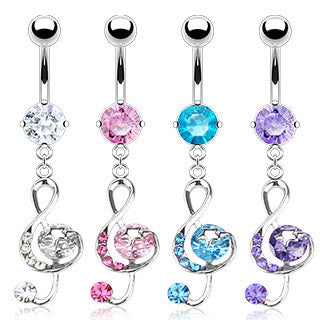 Belly Ring-Musical Note - Cheryl's Galore and More