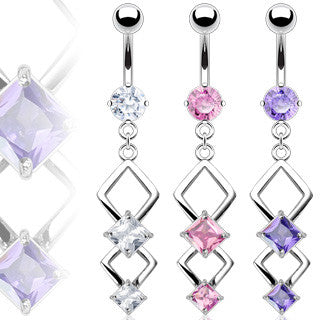 Belly Ring-Dangling 2 Tier - Cheryl's Galore and More