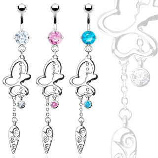 Belly Ring-Butterfly - Cheryl's Galore and More