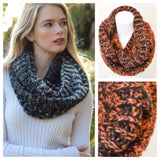 Ombre' Style Knit Blend Infinity Scarves - Cheryl's Galore and More - 3