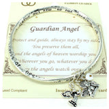"""Always Beautiful"" Inspirational Engraved ""GUARDIAN ANGEL"" Charm Bracelet - Cheryl's Galore and More - 1"