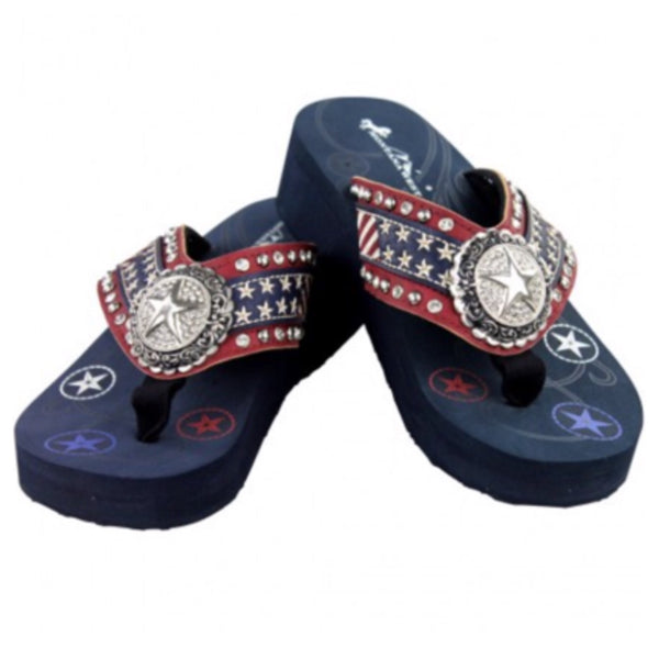 "2016 ""American Pride"" Montana West Collection Flip Flops - Cheryl's Galore and More - 2"
