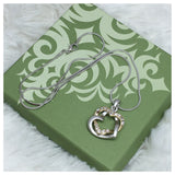 """Always in My Heart"" Rhinestone Accented Twine Hearts Necklace - Cheryl's Galore and More - 2"