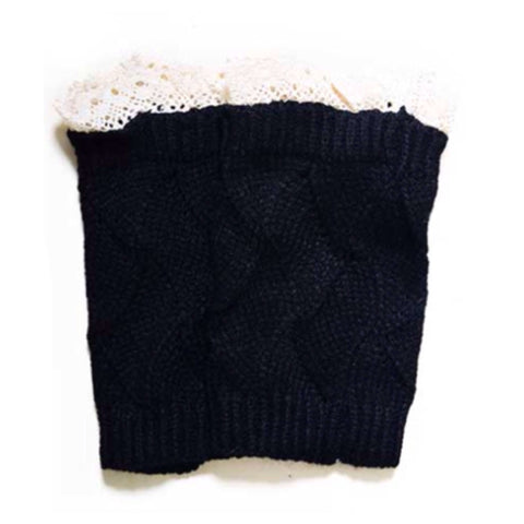 Adorable Lace Trim Black Boot Toppers, Boot Cuffs - Cheryl's Galore and More