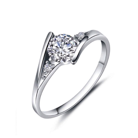 Beautiful Cubic Zirconia Engagement Style Ring - Cheryl's Galore and More