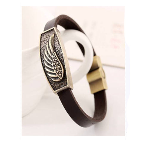 Pulseira Inspired Mens (or Women') Wing Leather Bracelet - Cheryl's Galore and More