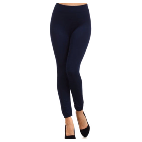"""A Touch of Heaven""  No Peek-a-Boo See Through Navy Leggings - Cheryl's Galore and More - 1"