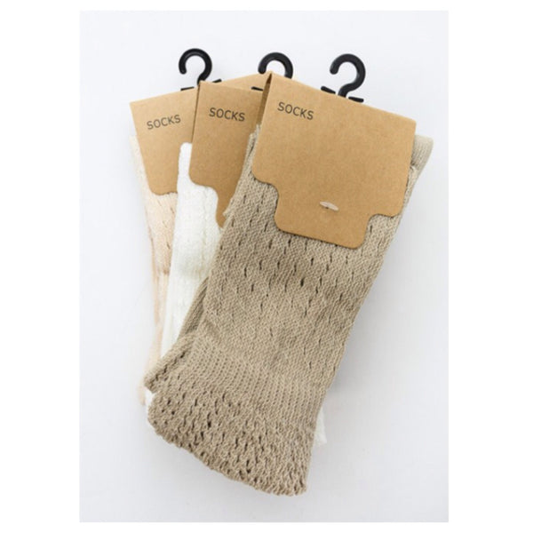Cute and Cozy Tall Pointelle Ruffle Socks - Cheryl's Galore and More - 1