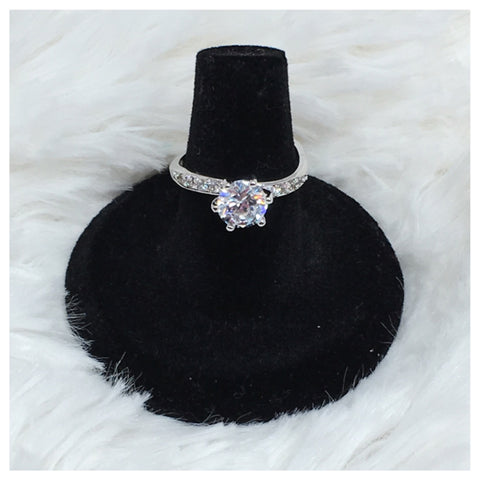 Beautiful Cubic Zirconia-925 Sterling Silver Engagement Style Ring - Cheryl's Galore and More - 1