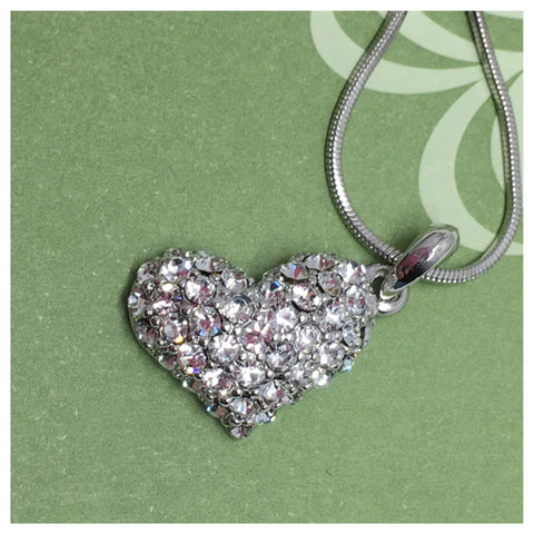 Beautiful Eye Catching Crystal Accented Heart Pendant Necklace - Cheryl's Galore and More - 1