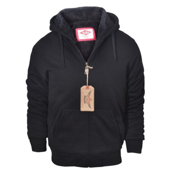 """Love Him"" Men's (or women's) Sherpa Lined Hooded Jacket - Cheryl's Galore and More - 1"
