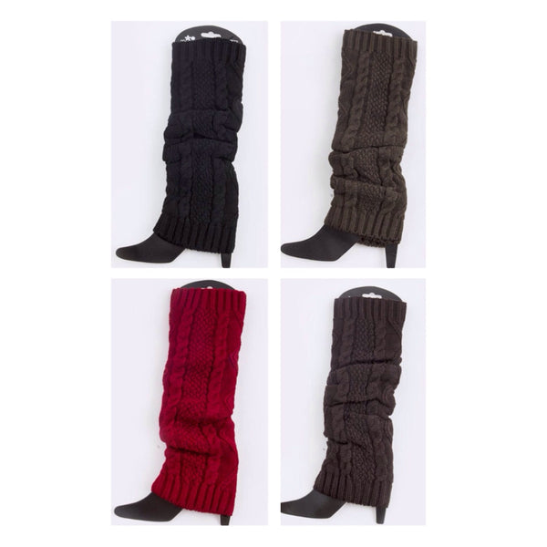 Thick and Warm Cable Knit Leg Warmers - Cheryl's Galore and More - 1
