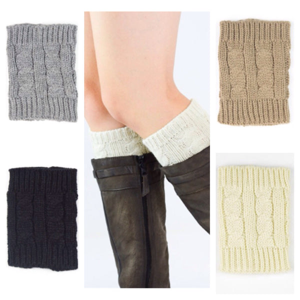 Cute Cable Knit Boot Toppers, Boot Cuffs - Cheryl's Galore and More - 1