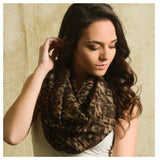 """Always My Style"" Brown Mix Diamond Geo Print Infinity Scarf - Cheryl's Galore and More - 2"