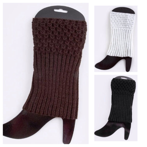 Half N' Half Leg Warmers Boot Toppers - Cheryl's Galore and More - 1
