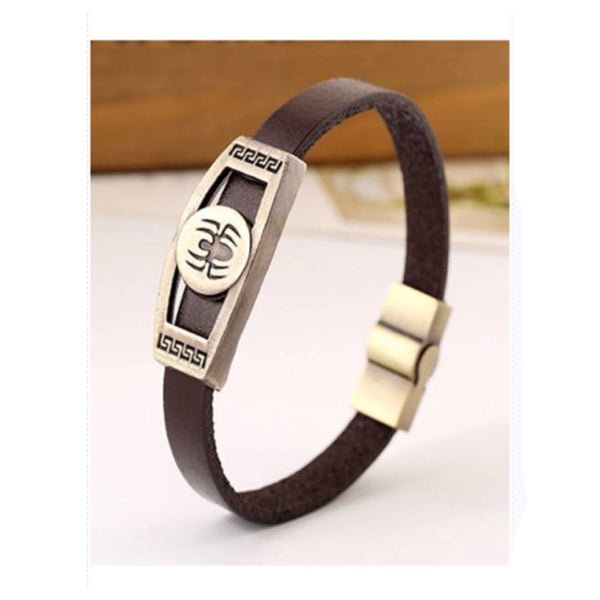 Pulseira Inspired Mens (or Women') Spider Leather Bracelet - Cheryl's Galore and More