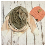 """Always My Style"" Cozy Pastel Tone Plaid Blanket Scarf - Cheryl's Galore and More - 1"