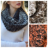 Ombre' Style Knit Blend Infinity Scarves - Cheryl's Galore and More - 1