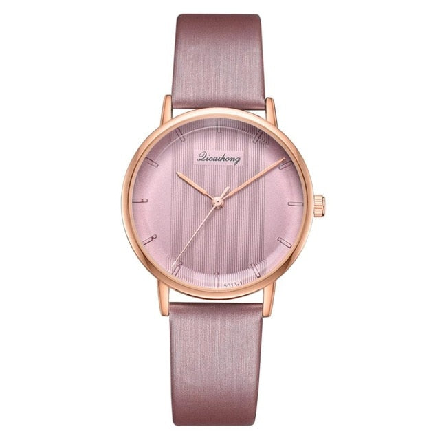 Women's Watch Casual Sports Quartz Leather Band Stripe Watch Analog Ladies Dress Creative Wrist Watch Drop Shipping Relogio
