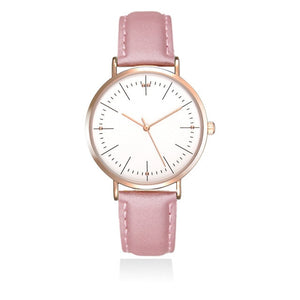 Luxury Simple Women's Watches Fashion Casual Motion Women Watch Ladies Quartz Leather Wristwatch Romantic Clock Montre Femme