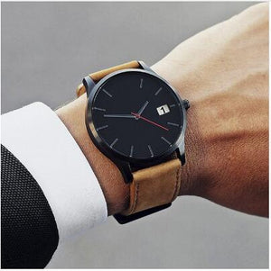 2019 Fashion Military Sport Wristwatch Men Watch Leather Quartz Men's Watch Complete Calendar Watches часы мужские reloj hombre