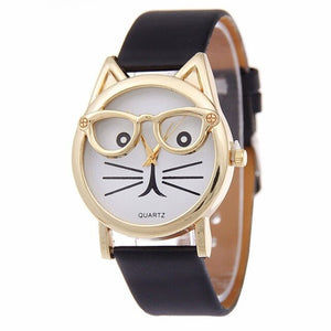 Cute Cat Women's Quartz Watches Kids Wristwatch Gifts Relogio Feminino Clock Women Ladies Dress Watches NewN
