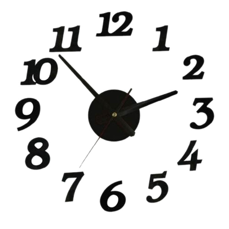 wall clock digital watch home clocks Living Room sticker home decor relojes adhesivos decorativos para paredes