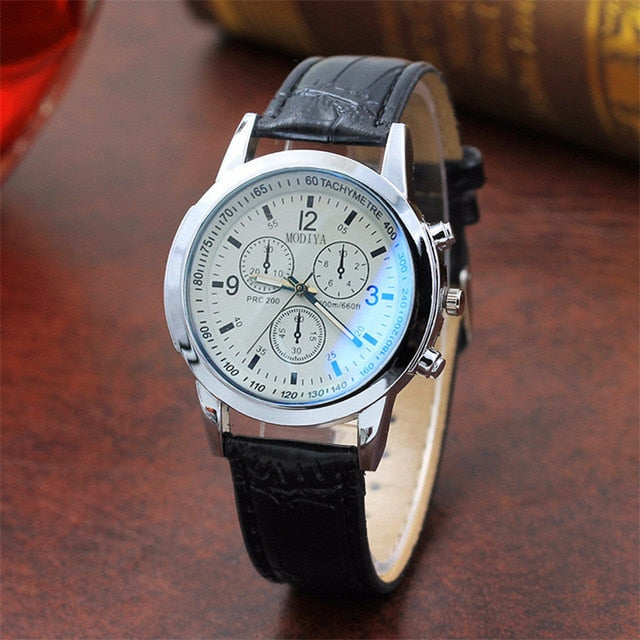 Quartz Watch Men Leather Casual Watches Men's Clock Male Sports Wristwatch montre homme hodinky ceasuri saat #4M09