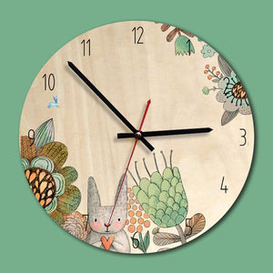 M.Sparkling Wooden Creative Wall Clock Living Room Mute Clocks Children`s Room Wall Decoration Wall Watches Relogio De Parede