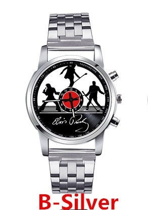 New fashion steel Elvis Presley watch Men's luxury quartz wristwatches promotion commemorate Elvis Presley relogio feminino