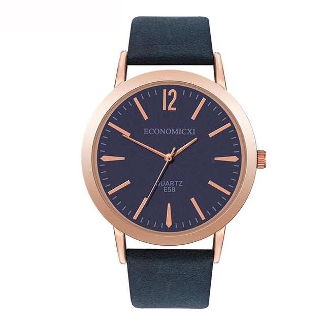 Ladies Watch Women's Leather Strap Watches Casual Quartz Analog Round Dial Wrist Watch Gifts Relojes Para Mujer Byan Kol Saati*A