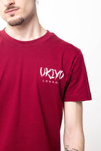 Load image into Gallery viewer, Mens Burgundy Small Print Tee - Ukiyo LDN
