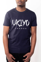 Load image into Gallery viewer, Mens Navy Large Print Tee - Ukiyo LDN