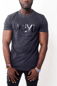 Mens Grey Large Print Tee - Ukiyo LDN