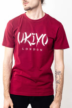 Load image into Gallery viewer, Mens Burgundy Large Print Tee - Ukiyo LDN