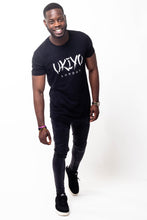 Load image into Gallery viewer, Mens Black (White) Long Line Tee - Ukiyo LDN