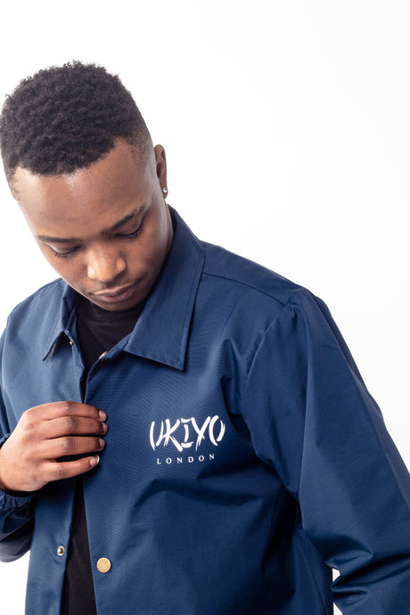 Mens Navy Jacket - Ukiyo LDN